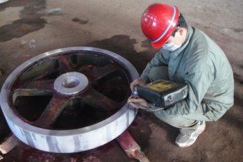 UT testing sand casting part