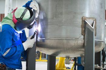 Welding stainless steel water tank